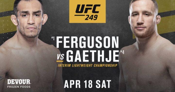 CONFIRMADO: Tony Ferguson enfrentará a Justin Gaethje en el UFC 249