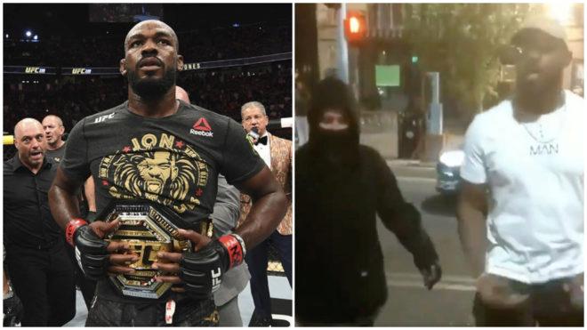 VIDEO: Jon Jones se enfrenta a manifestantes estadounidenses para detener actos vandálicos