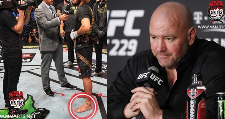 """""""Khabib Nurmagomedov defendió el título con el pie roto"""": Afirma Dana White tras el UFC 254"""