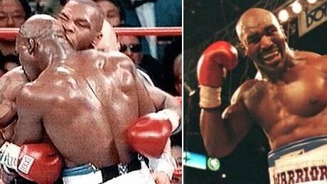 Evander Holyfield le dice a Mike Tyson que firme el contrato para que puedan pelear