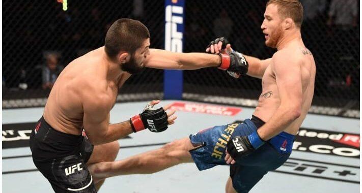 Khabib Nurmagomedov afirma que ningún rival llegó a golpearlo tan fuerte como lo hizo Justin Gaethje