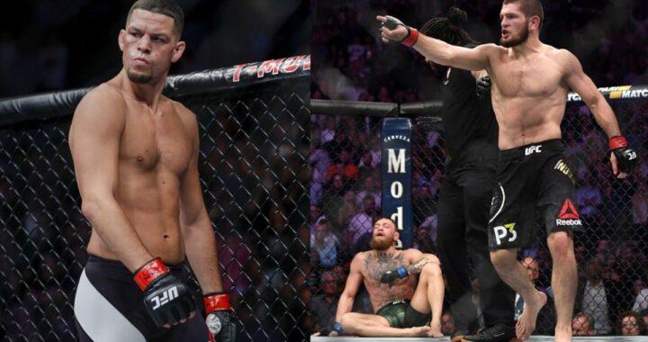 """Nate Diaz arremete contra Khabib Nurmagomedov y lo llama """"cobarde"""" por no anunciar su regreso a la UFC"""
