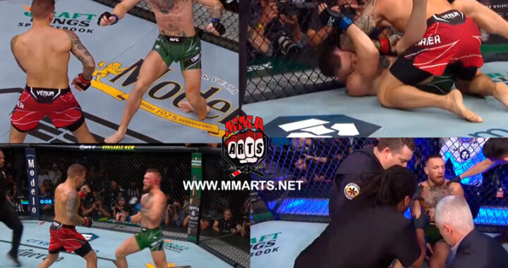 VIDEO: Dustin Poirier vence a Conor McGregor por parada médica en el UFC 264