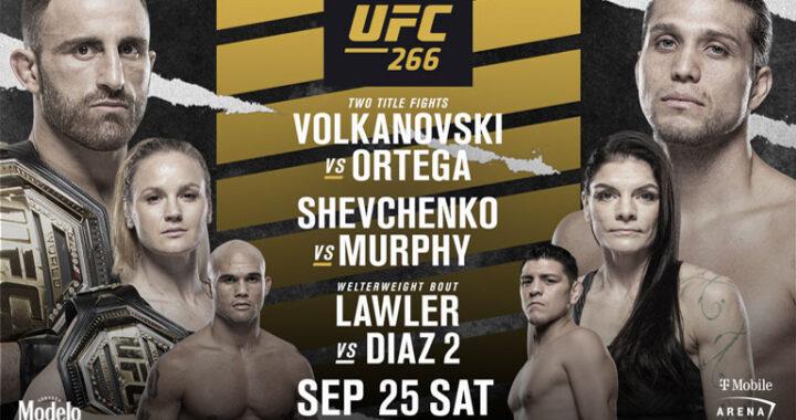 Horarios, transmisión y cartelera del UFC 266: Volkanovski vs Ortega en vivo
