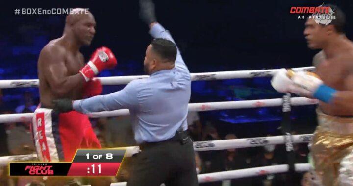 VIDEO: Excampeón de UFC Vitor Belfort vence por TKO a Evander Holyfield